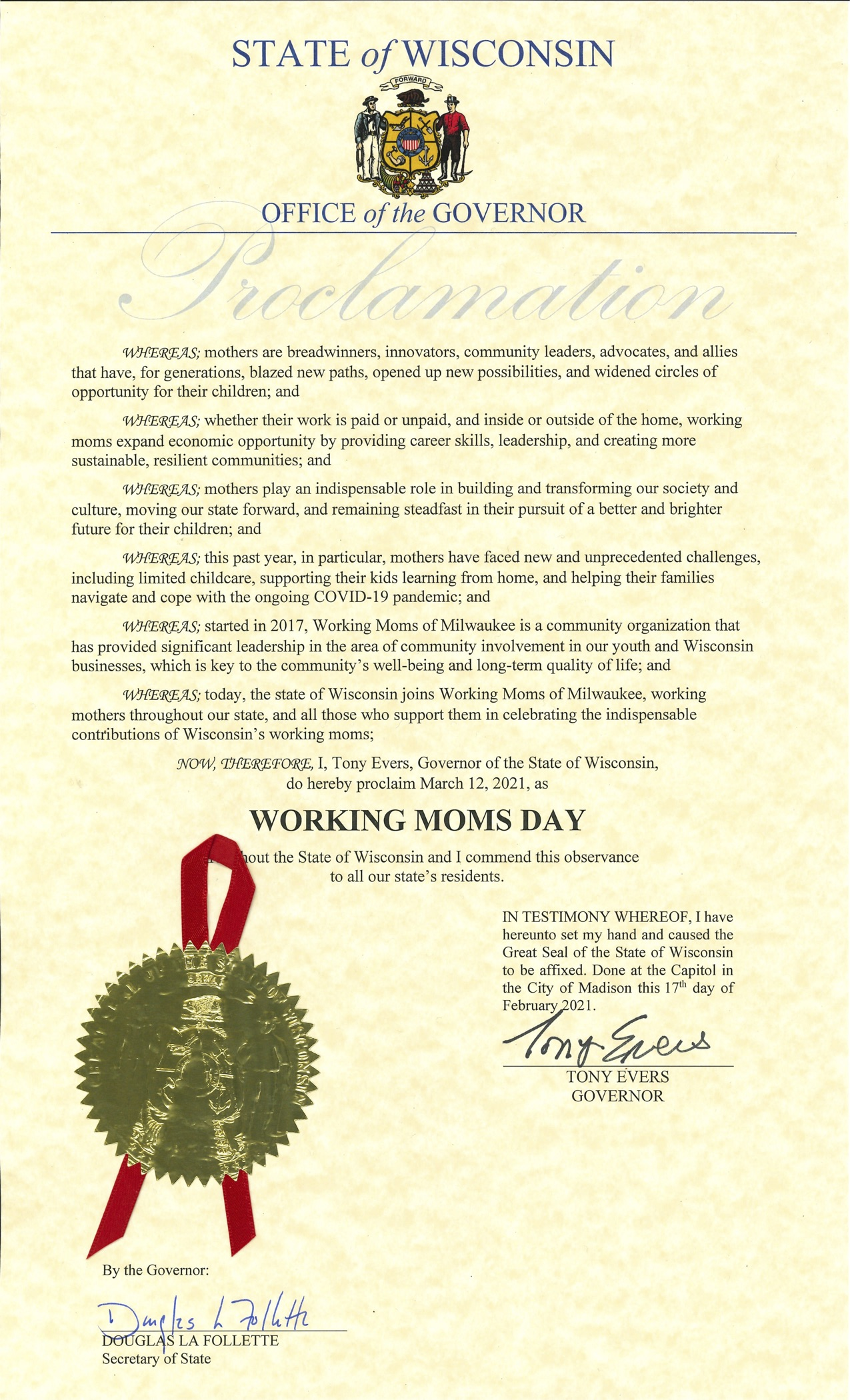Proclamation_Working Moms Day
