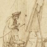 An Artist in His Studio, Rembrandt van Rijn, 1630, Getty