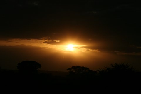 Sunrise on first morning game drive at Zulu Nyala