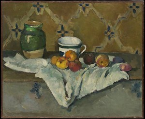 Still Life With Jar, Cup, and Apples, Cezanne, www.metmuseum.org