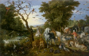 Breughel The Entry of the Animals into the Ark Getty