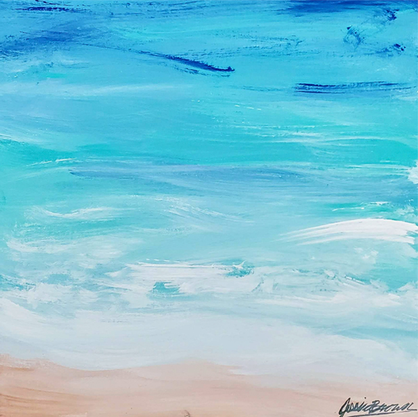 The Carolina Coastline - Acrylic Painting on canvas by Jessica Brown Art and Fashions.
