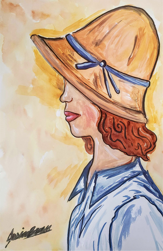 I'll Meet with You - Watercolour Painting on Art Paper by Jessica Brown Art and Fashions.