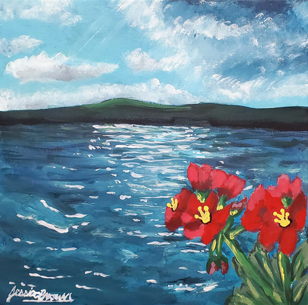 What a Sight - Acrylic Painting on Canvas by Jessica Brown Art and Fashions.