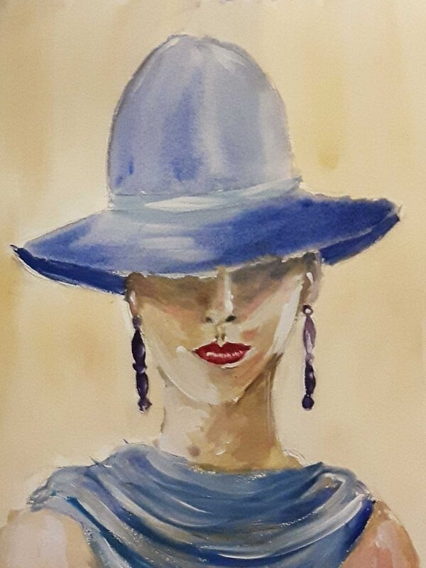 My Fair Lady - Watercolour Painting on Art Paper by Jessica Brown Art and Fashions.