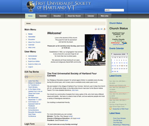 First Universalist Society revamp 2008