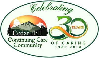 Cedar Hill 30 year oval logo