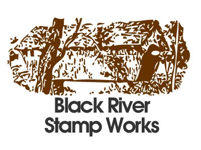 Black River Stamps logo 1997