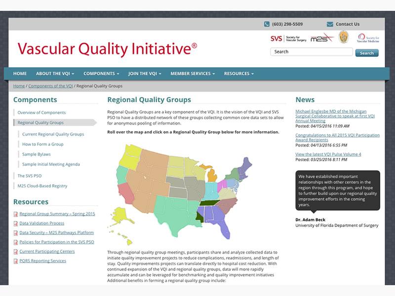 VQI interactive map