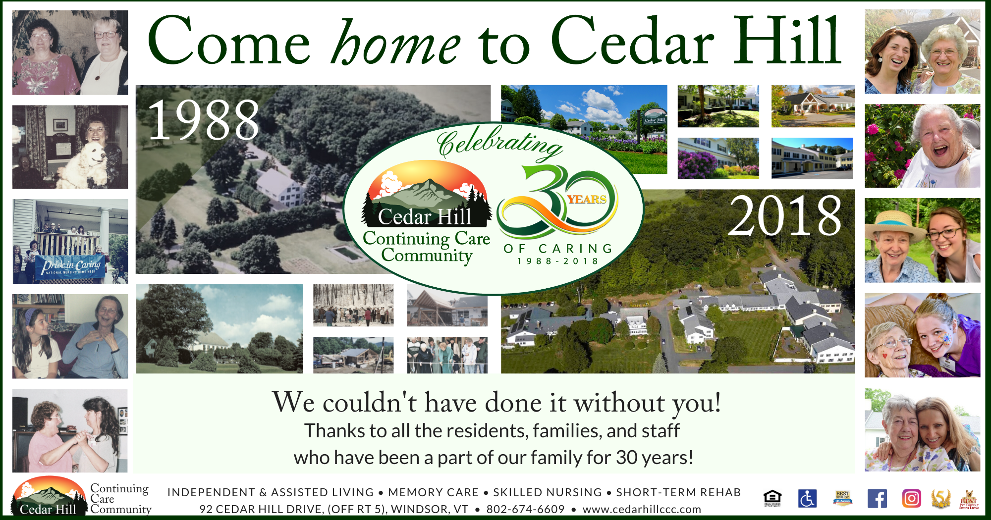 Cedar Hill 30th Anniversary Thank you Ad