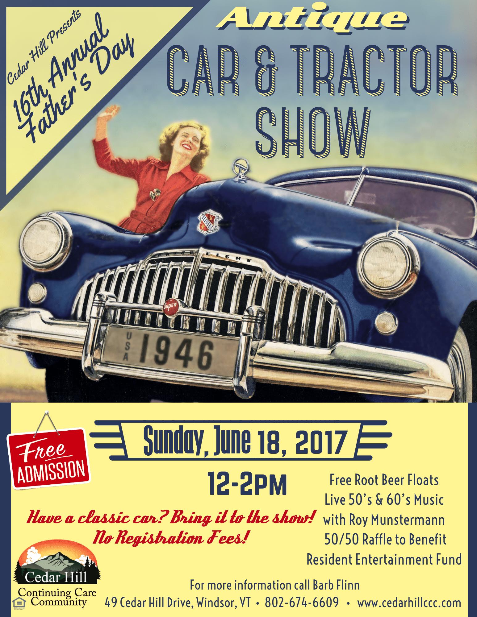 Cedar Hill Car Show Poster 2017