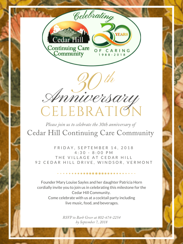 30th Anniversary cocktail party invitation