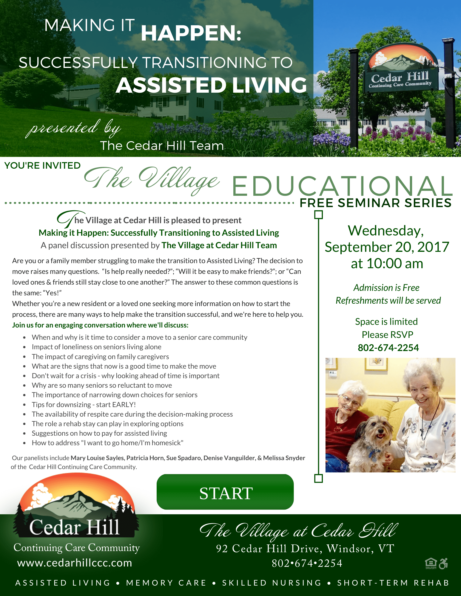 Flyer - successful transition flyer 9-20-17