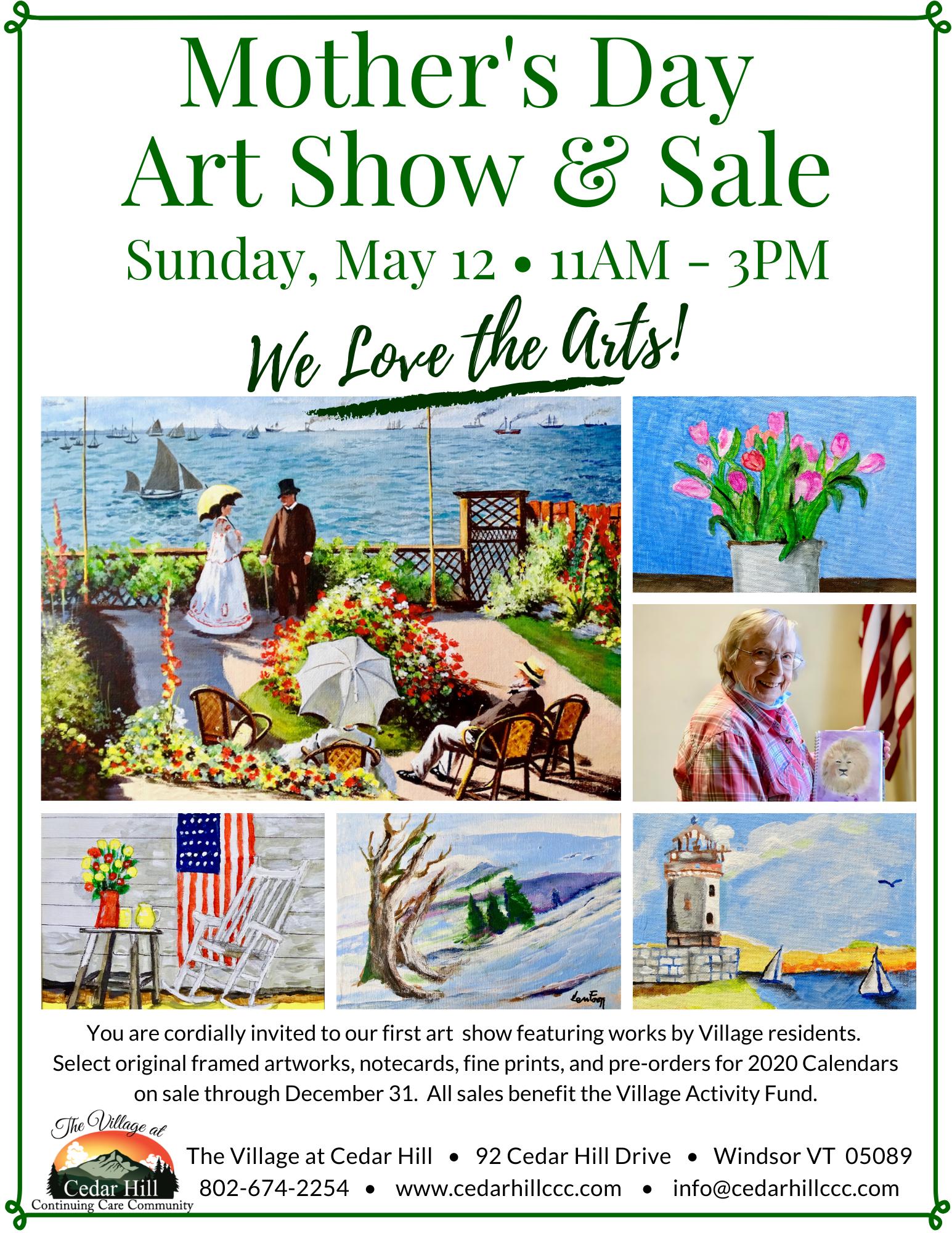 Village Art Show Flyer 2019