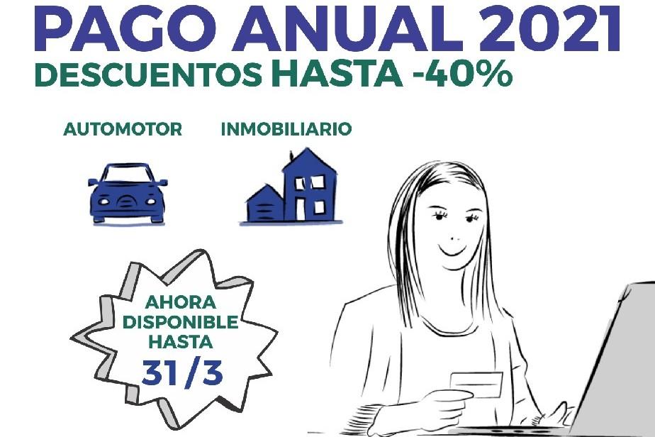 Pago anual: automotor y mobiliario