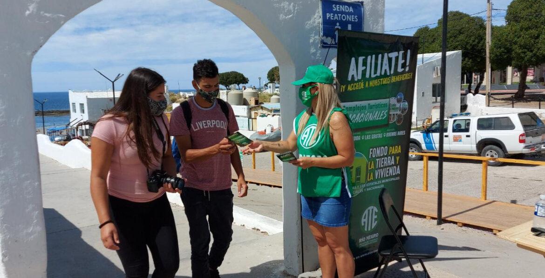 ATE lanzó campaña de difusión y afiliación en playas rionegrinas