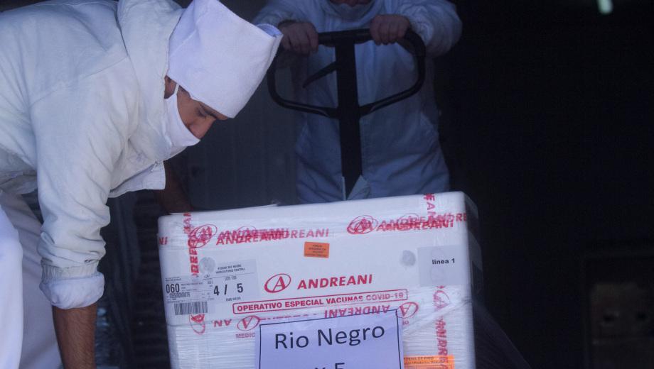 Llegan más vacunas contra el COVID-19 a Río Negro