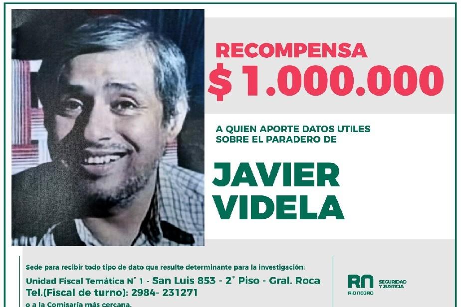 Recompensa de hasta $1.000.000 para dar con el paradero de Javier Videla