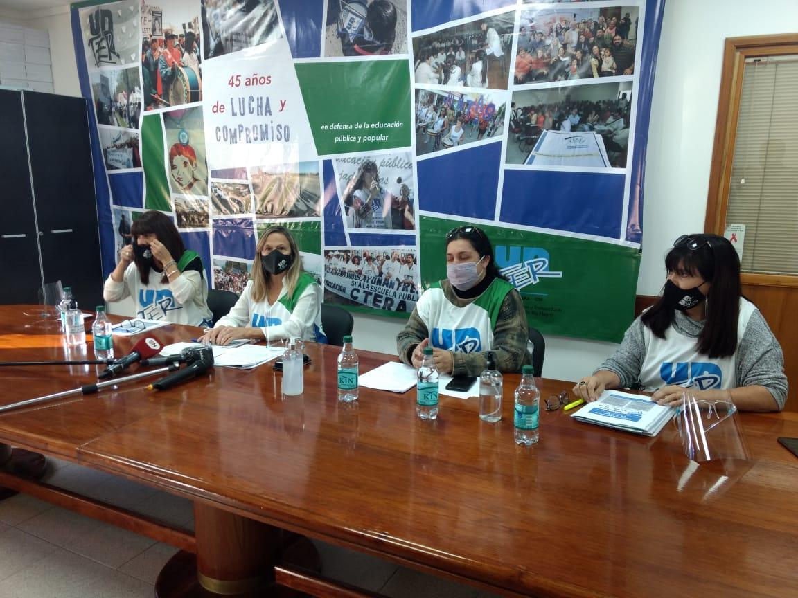 UNTER pidió que suspendan las clases presenciales en Río Negro