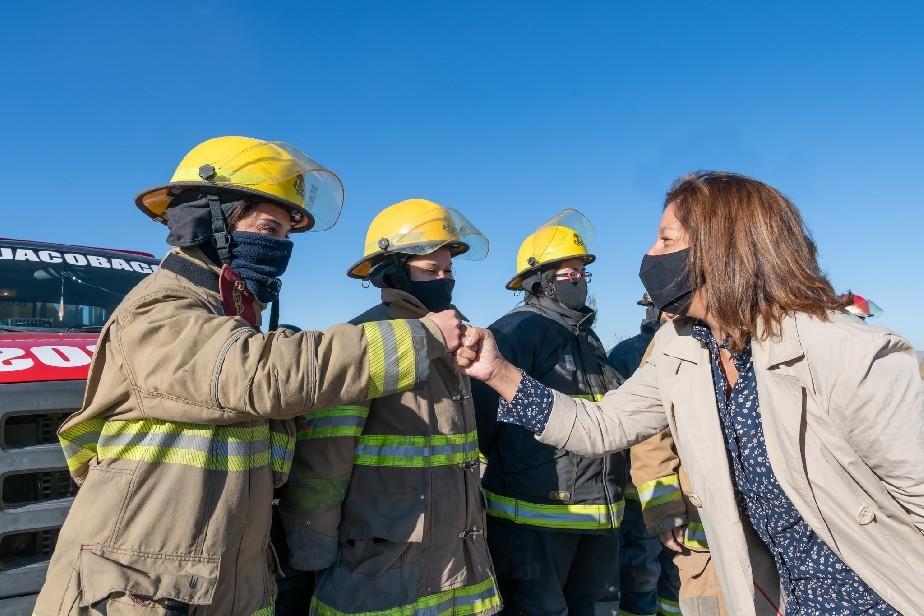 Aporte para bomberos voluntarios para elementos de protección
