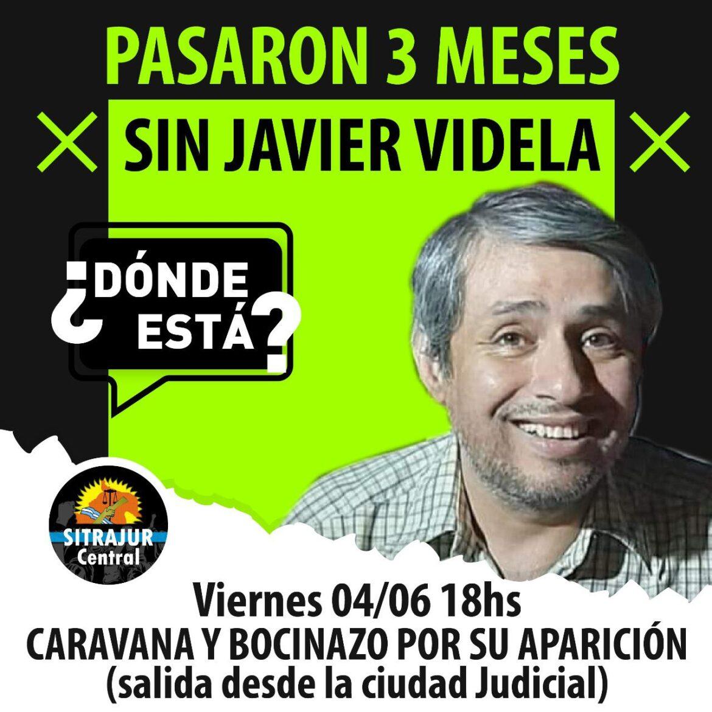 Tres meses sin Javier Videla: caravana y bocinazo por su aparición