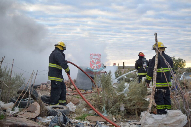 Incendio en una casilla al norte de la ciudad