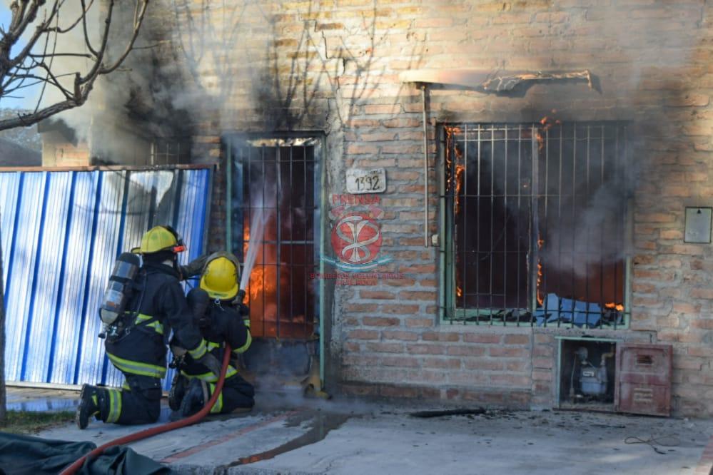 Incendio en una vivienda ésta mañana en Roca