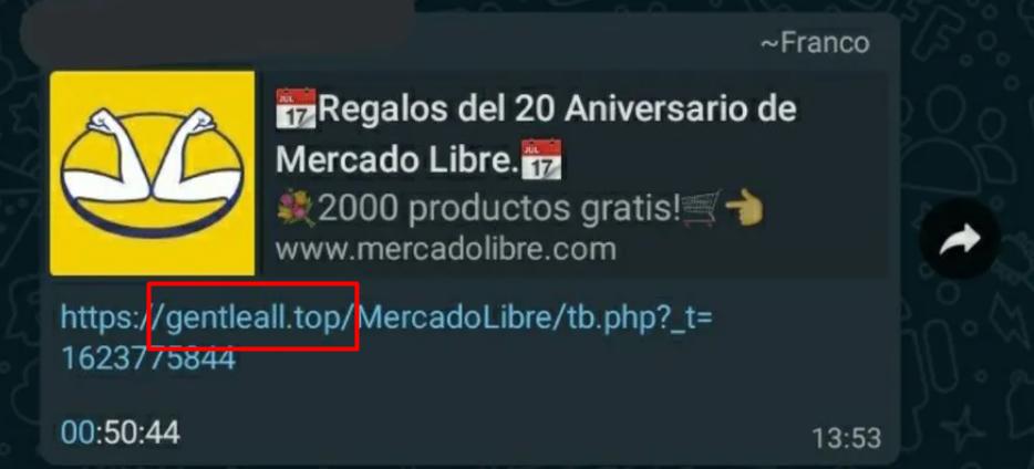¡Atención estafa! El mensaje de Mercado Libre que circula por WhatsApp es falso