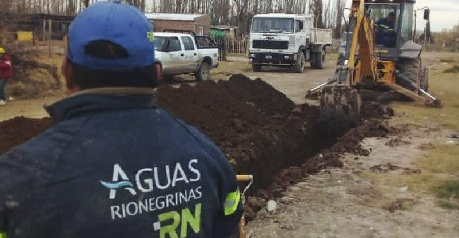 Aguas Rionegrinas continúa realizando tareas de mejoramiento en Chacramonte