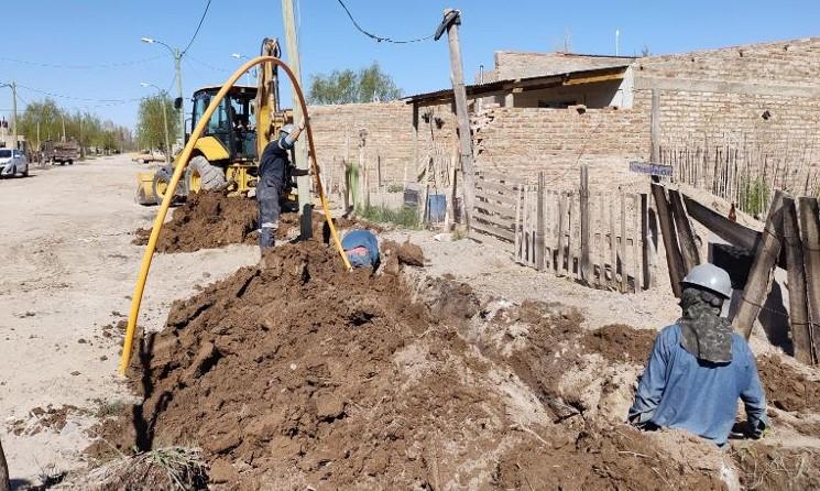 Avanzan con la extensión de redes de gas en Chacramonte y Barrio Nuevo