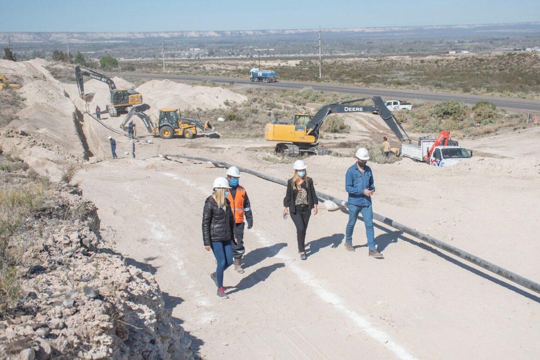 Avanza la obra de gas para el Parque Industrial II