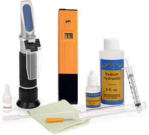 Refractomer, pH Meter and Acid Titration Kit