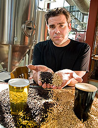 All-Grain Brewer Holding Grains