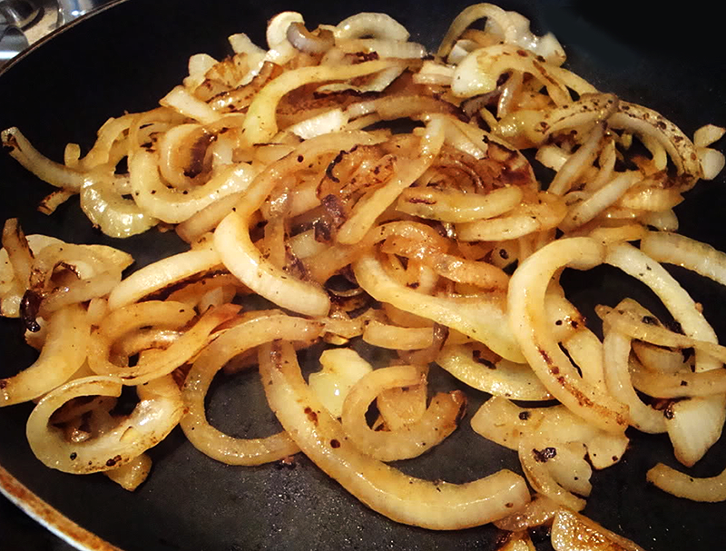 Sauteed Onions Made With Beer
