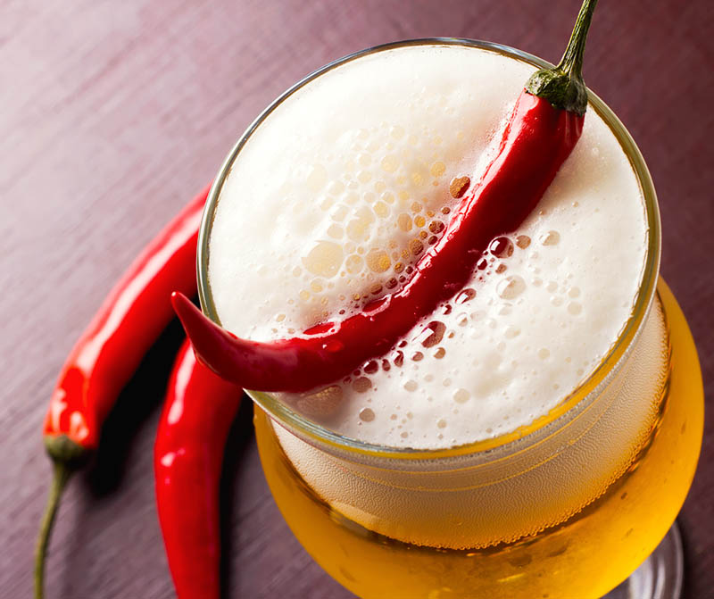 Beer With Chili Peppers