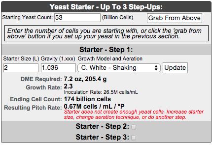 Black lager 4 - Yeast Starter