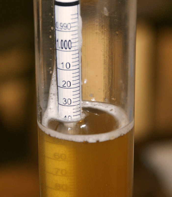 Close Up Of Wine Making Hydrometer