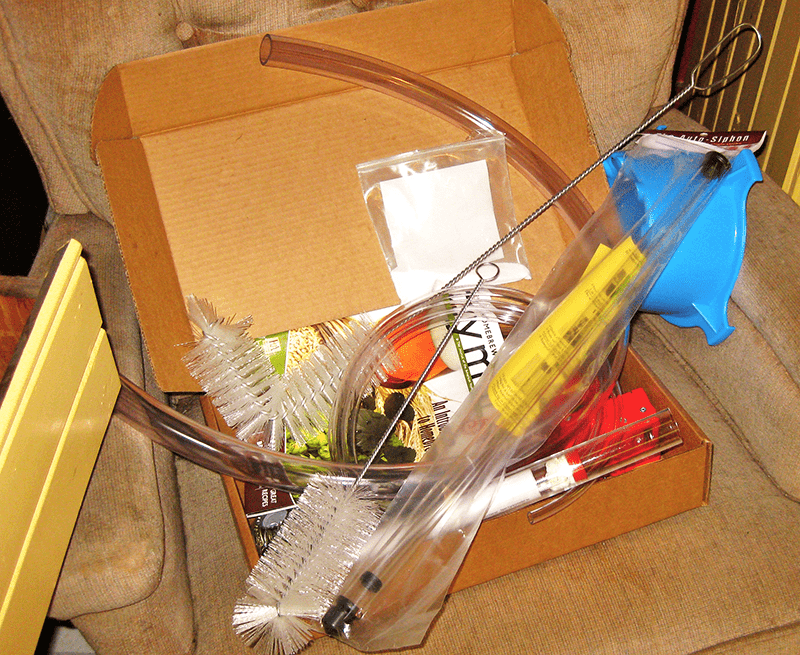 Cluttered Home Brewery Supplies