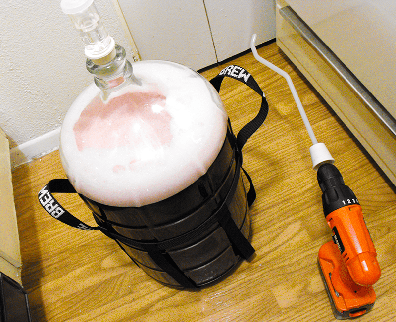 Degassing Homemade Wine With Drill
