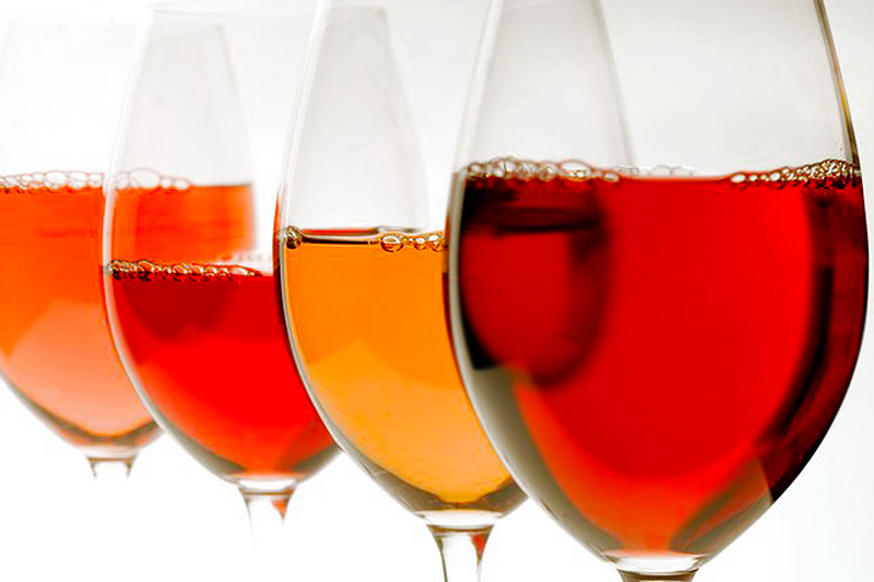 What you see when a wine turning orange.