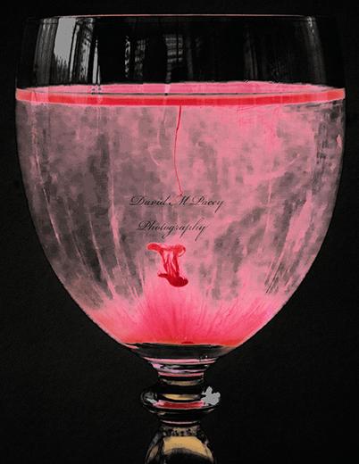 Glass Of Wine In Reverse