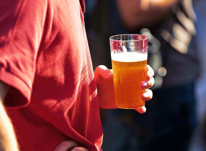 Man Holding Wheat Beer
