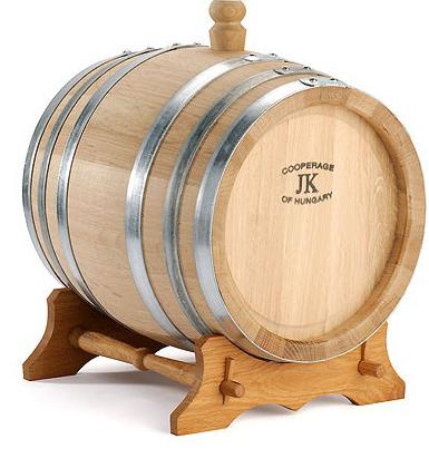 Oak Wine Barrel On Stand