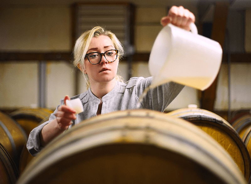 Person Blending Wines