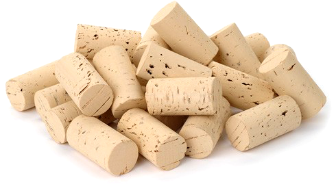 Wine corks waiting to be prepared for bottling wine.