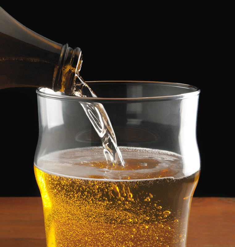Pouring Flat Homebrewed Beer