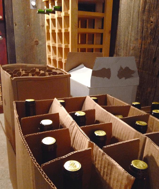 Re-Bottled Wine In Cellar