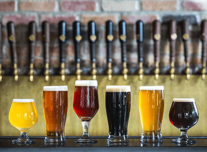Row Of British Beers