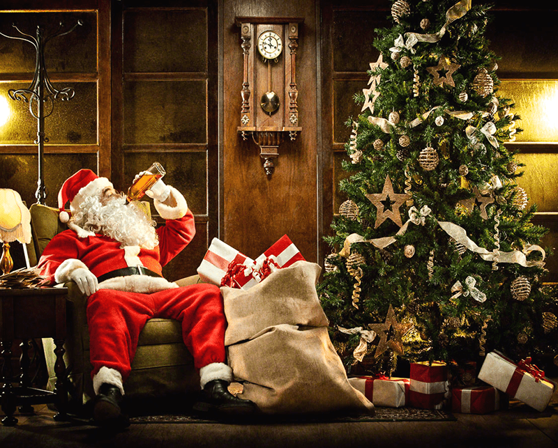 Santa With Wine Making Gifts