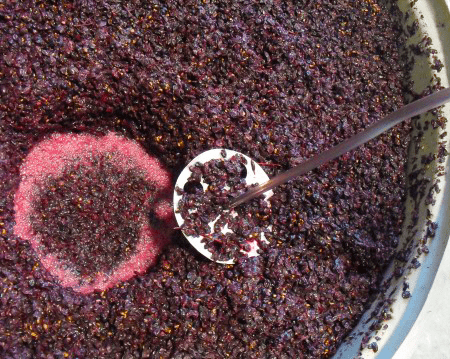 Stirring Fermenting Wine